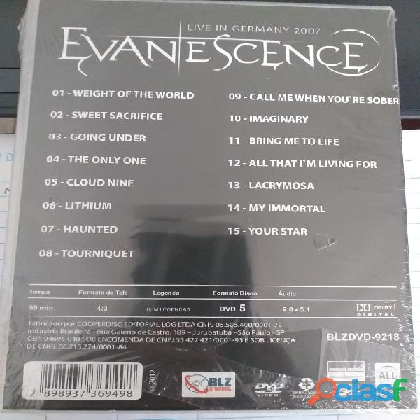 Evanescence Live In Germany 2007 Dvd 1