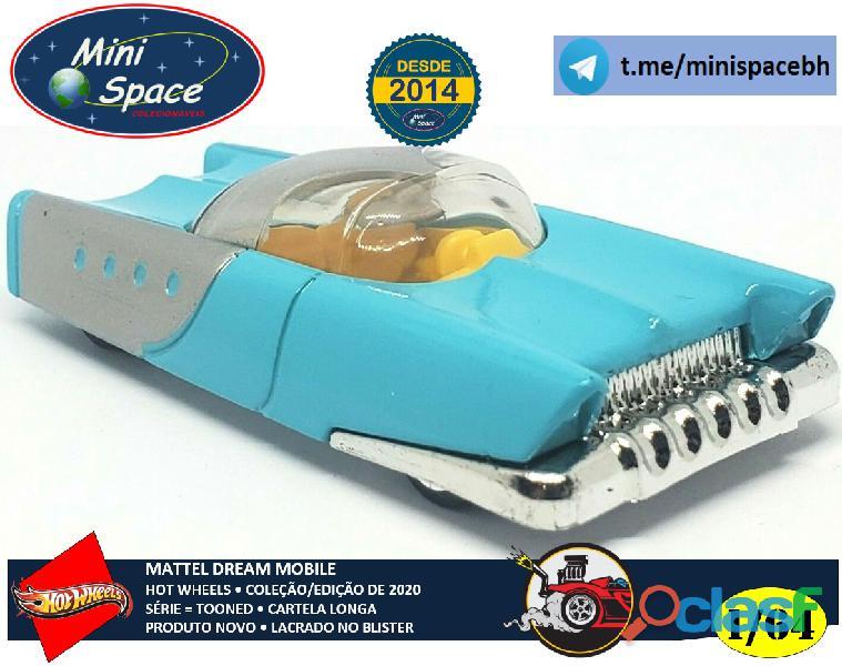 Hot Wheels 2021 Mattel Dream Mobile Azul Cartela Longa 1/64