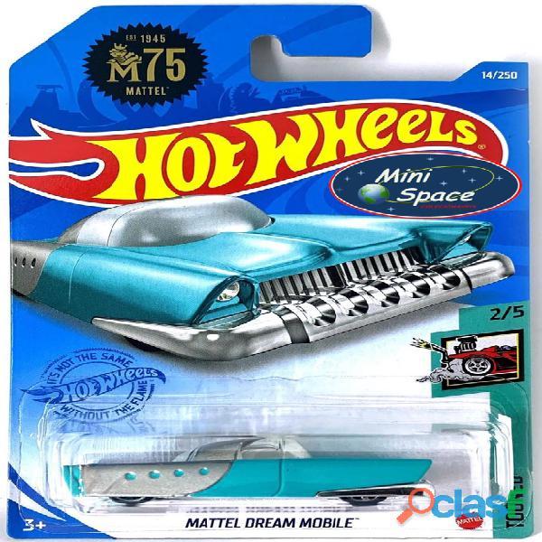 Hot Wheels 2021 Mattel Dream Mobile Azul Cartela Longa 1/64 1