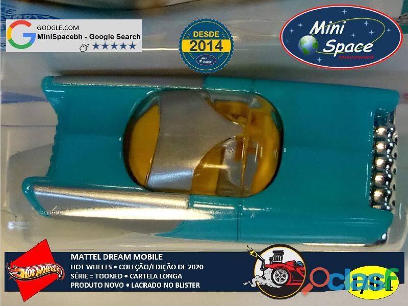 Hot Wheels 2021 Mattel Dream Mobile Azul Cartela Longa 1/64 2