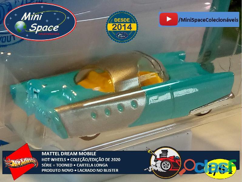 Hot Wheels 2021 Mattel Dream Mobile Azul Cartela Longa 1/64 3