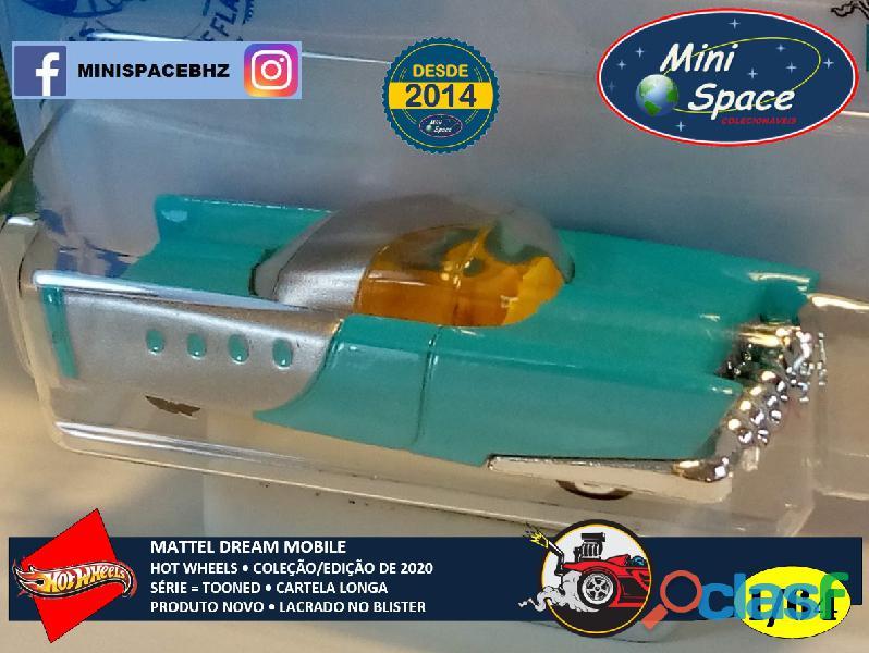 Hot Wheels 2021 Mattel Dream Mobile Azul Cartela Longa 1/64 4