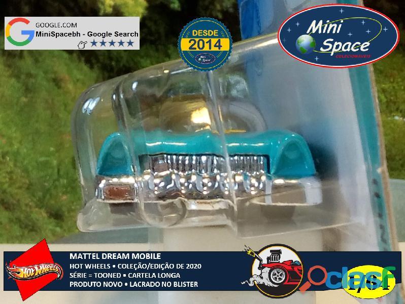 Hot Wheels 2021 Mattel Dream Mobile Azul Cartela Longa 1/64 6