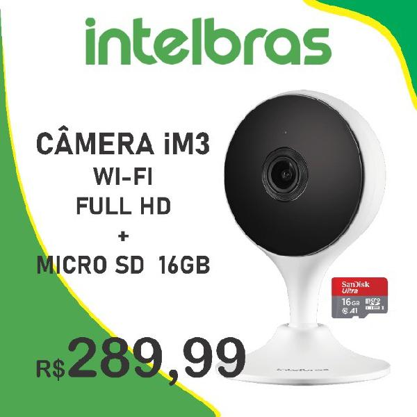 Câmera im3 intelbras + microsd 16gb