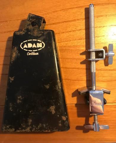 Kit cowbell (campana) adah + suporte p/bumbo pearl