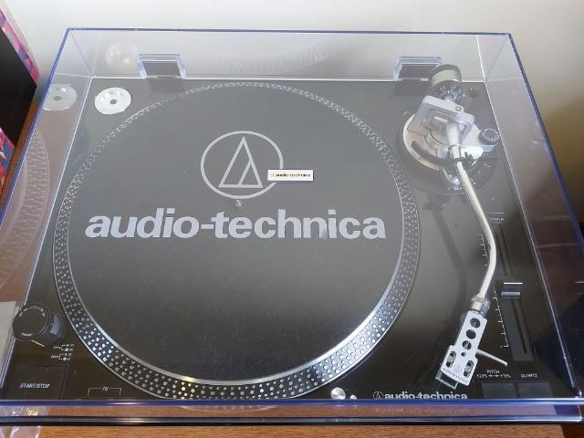 Toca disco audio-technica at-lp120bk-usb