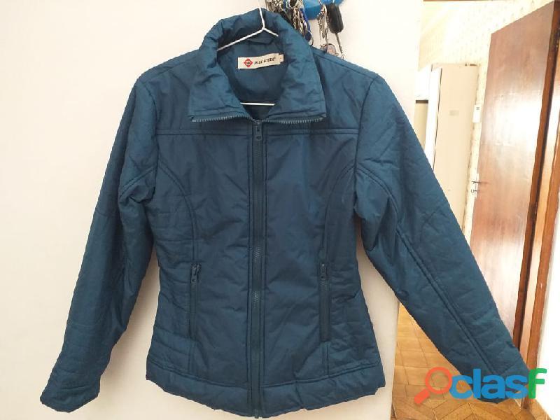 jaqueta azul acolchoada promocao