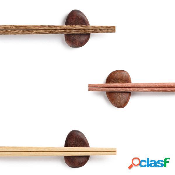 Yiwuyishi 10 pares / conjunto de pauzinhos de cozinha talheres madeira natural reutilizável sushi food varanda