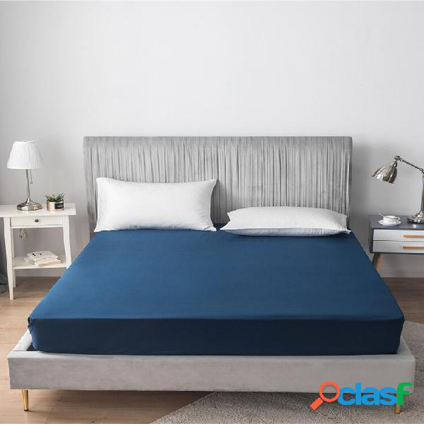 Lençol king 100% algodão fio cobertura de cama cool stay on lençol ajustado roupa de cama têxtil doméstica
