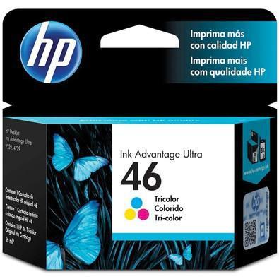Cartucho de tinta hp 46 color - cz638al