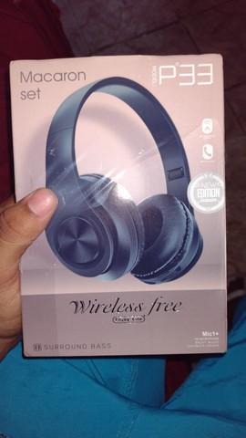 Headphone p39 bluetooth 5.0 stereo micro sd p2 alta