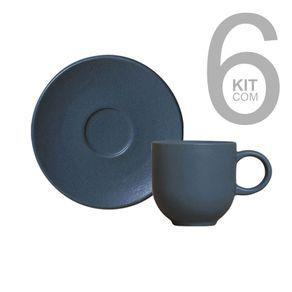 Jogo c/ 6 xicaras cafe coup stoneware boreal
