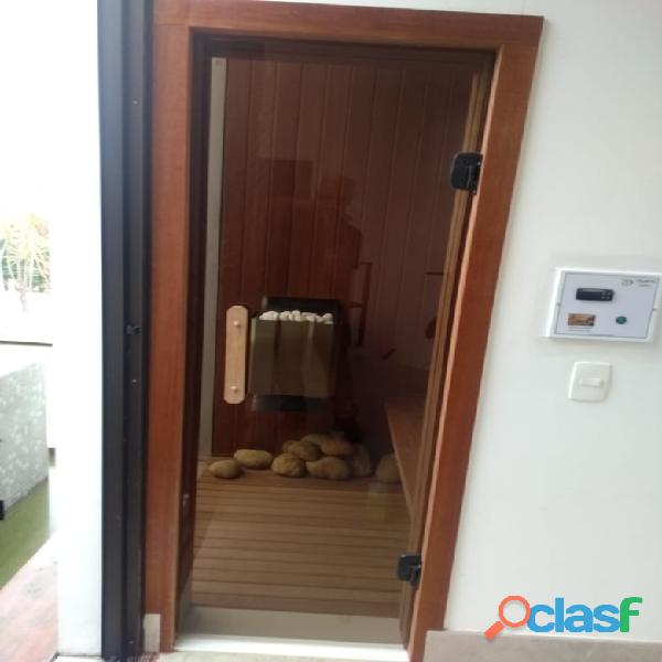 Sauna seca com porta de vidro/Sauna residencial/Sauna seca