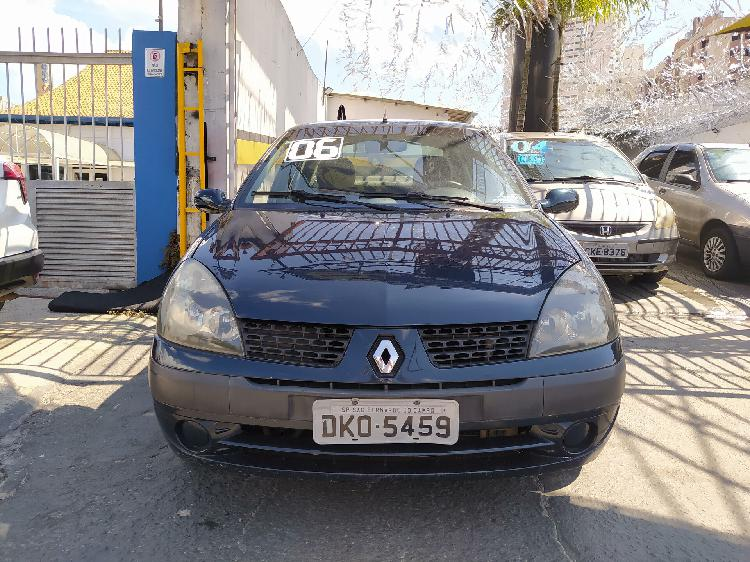 Renault clio 1.6 16v azul 2006/2006 - são bernardo do campo
