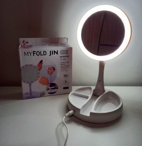 Novo) espelho led articulado / entrega grátis jp