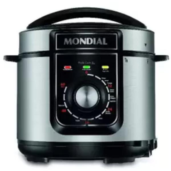 Panela de pressão elétrica mondial pratic cook preta 5l