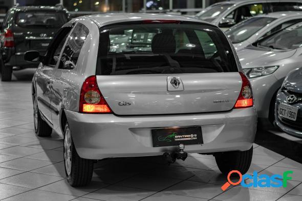 Renault clio campus hi-flex 1.0 16v 3p prata 2010 1.0 gasolina