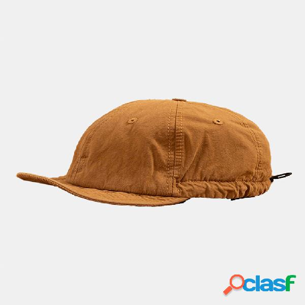 Bonés de beisebol da moda de algodão unissex de cor sólida soft