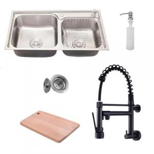 Marketplace] kit cuba pia dupla gourmet luxo prizi aço