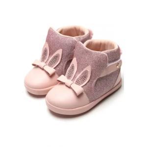 Parcelado] bota pampili infantil pompom rosa <div