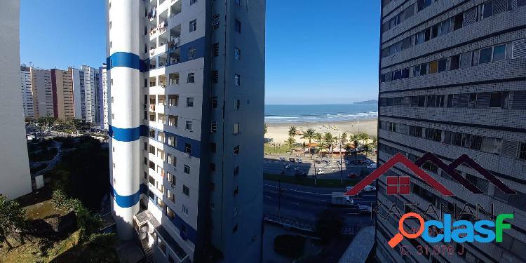 Apartamento 2 dormitórios (1 suíte) - vista mar - itararé - são vicente