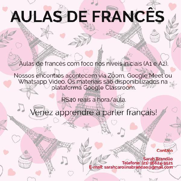 Aulas de francês (r$40,00 hora/aula) - francês, frança,