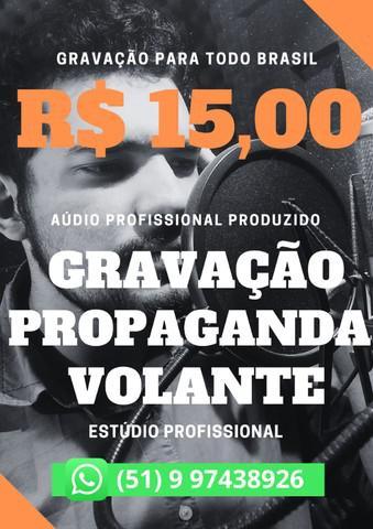 Locutor com gravação profissional para propaganda volante