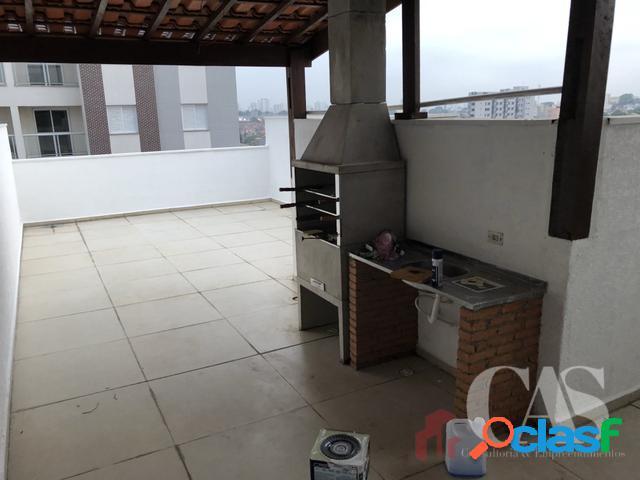 Cobertura 2 dormitórios 1 suite 100m² - campestre, santo andré - sp