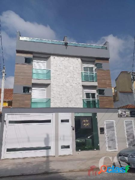 Cobertura 2 dormitórios 1 suite, 96 m² - vila curuçá - santo andré/sp