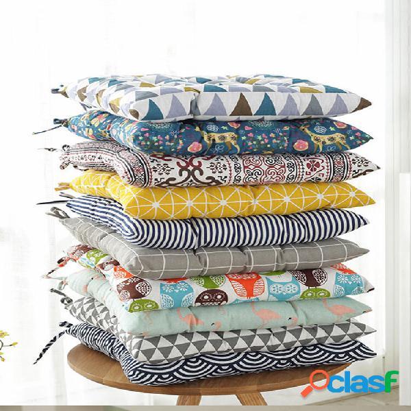 40x40cm engrossar linho algodão tatami beleza almofada para quadris almofada do assento traseiro para escritório almofad