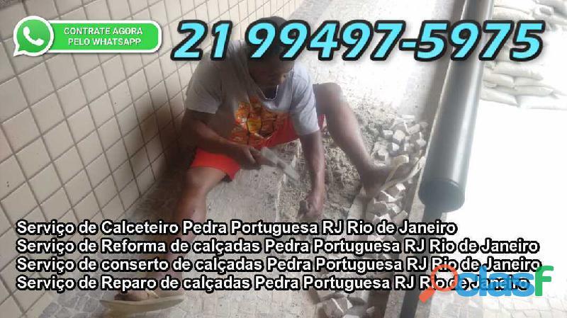 calceteiro pedra portuguesa reparos em calçada e reformas rj