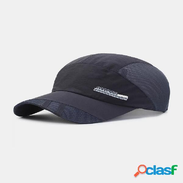Para-sol de viagem de cor sólida de secagem rápida unissex respirável beisebol chapéu
