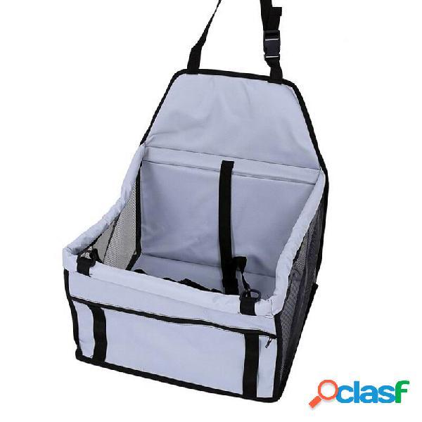 Pure color portátil dobrável pet segurança viagem car safe pet cat dog frente assento bag