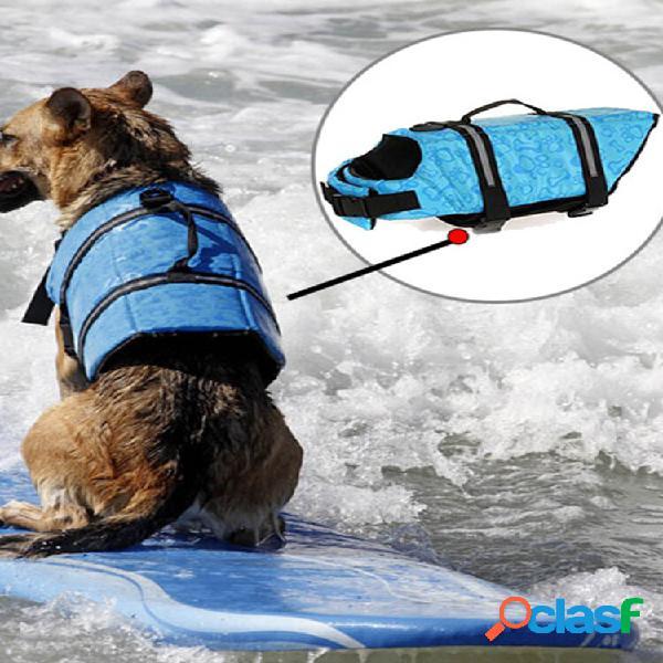 M tamanho animal de estimação cachorro colete salva-vidas roupas de segurança para colete salva-vidas de animais de esti