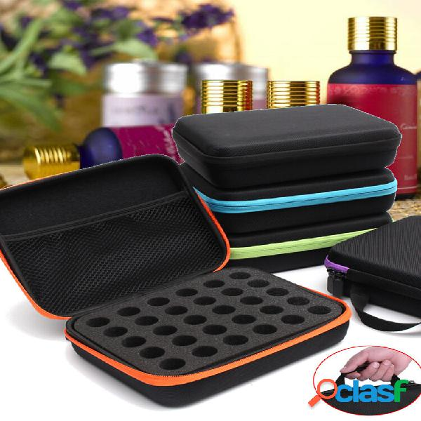 30 bottle essential óleo carry caso 5ml ~ 15ml holder storage aromatherapy bolsa