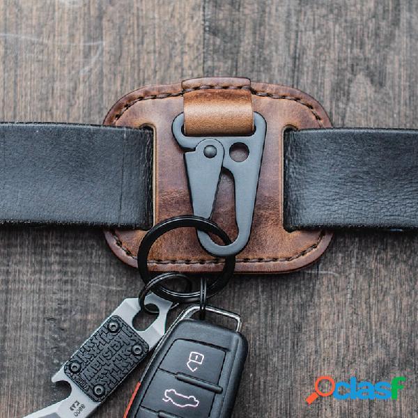 Homens couro genuíno easy carry key caso bolsa keypster