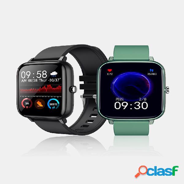 1,54 polegada full touch coração taxa de pressão arterial monitor de oxigênio controle de música discagem personalizada