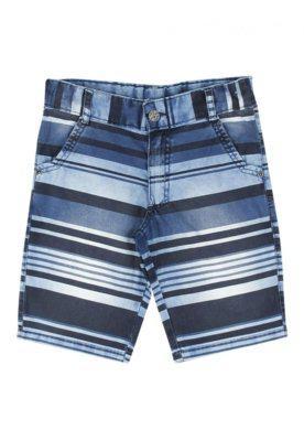 Bermuda look jeans listrada jeans azul