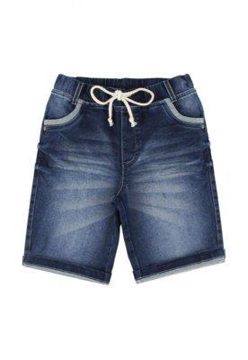 Bermuda look jeans moletom jeans azul