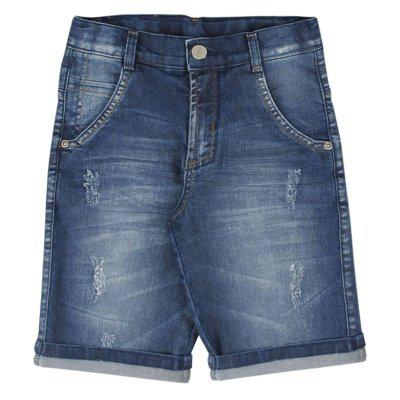 Bermuda look jeans slim jeans azul