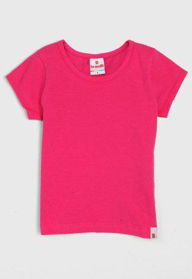 Blusa brandili infantil lisa rosa