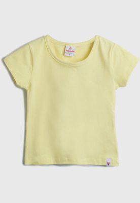 Blusa brandili menina liso amarela