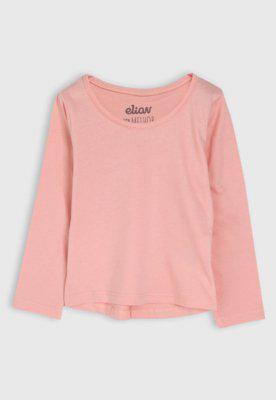 Blusa elian infantil lisa rosa