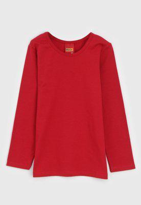 Blusa kyly infantil lisa vermelha