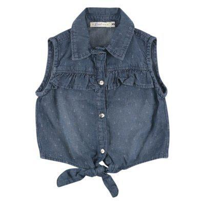 Blusa look jeans regata jeans