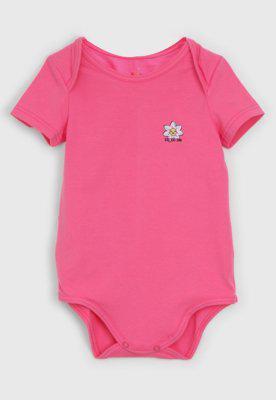 Body zig zig zaa infantil flor rosa