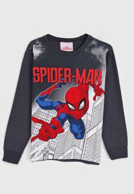 Camiseta brandili infantil homem aranha grafite