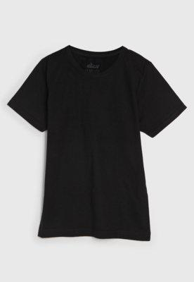 Camiseta elian manga curta menino preto