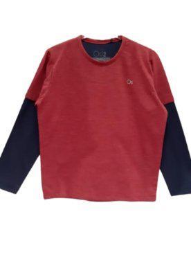 Camiseta infantil manga longa recorte nas mangas ogochi -