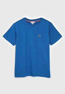 Camiseta lacoste kids infantil logo azul